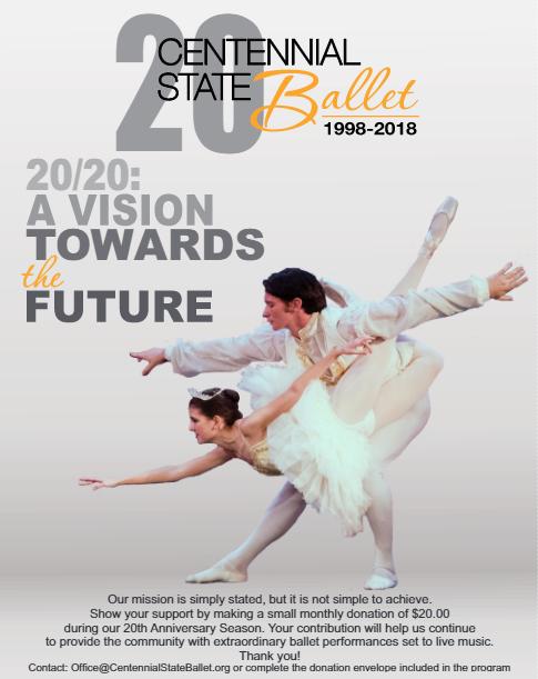 20 for 20 Centennial State Ballet